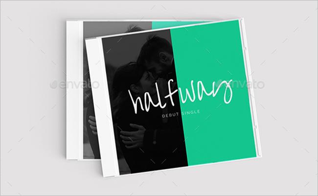 Album CD Cover Mockup Design