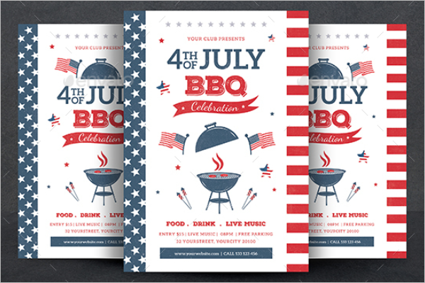 American BBQ Flyer Template