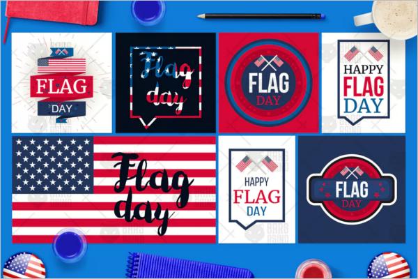 American Flag Banner Design