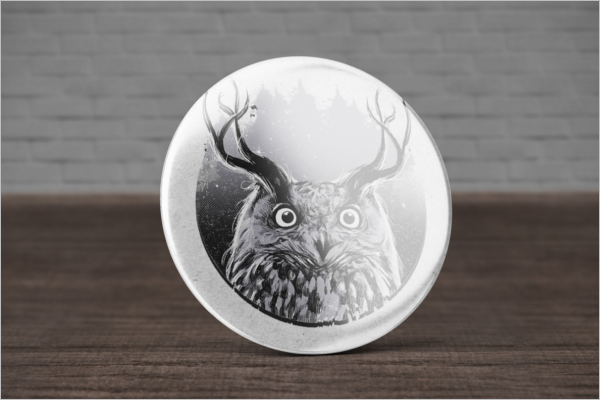 Animated Badge Mockup Free Design