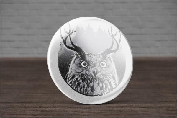 Animated Badge Mockup Free Design