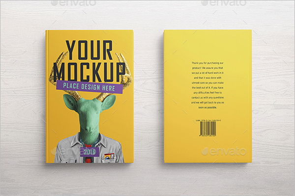 Animated Book Cover Mockup Design
