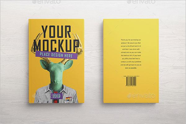 Animated Book Cover Mockup Design