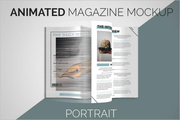 Animated Magazine Mockup Design