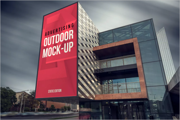 Animated Outdoor Mockup Design