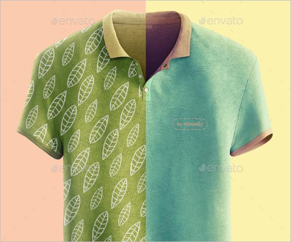 Animated Polo Shirt Mockup Design