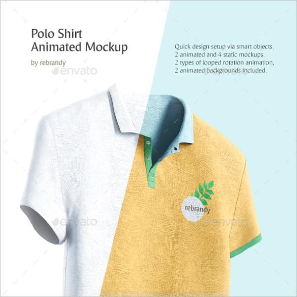 Animated Polo t-shirt Mockup