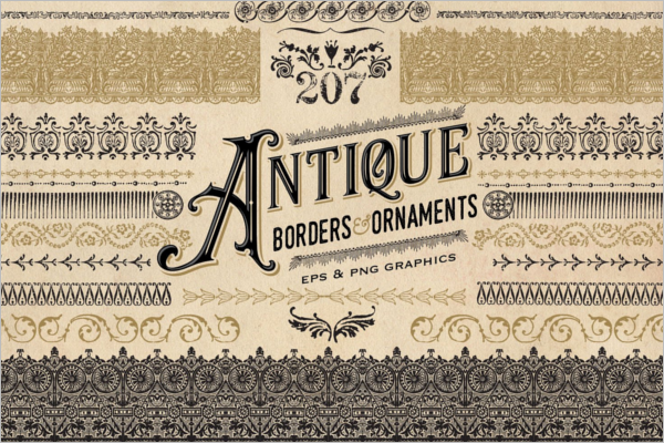 Antique Border Design Template