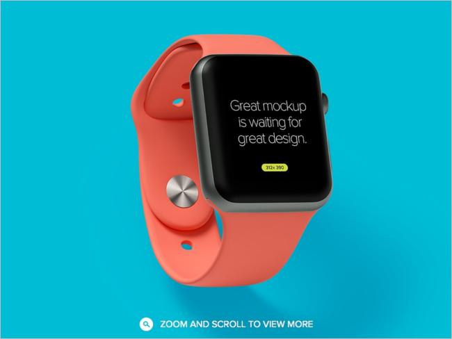 Apple Watch Mockup Design