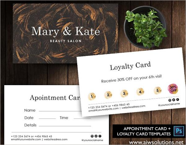 Appointment Card Design Idea
