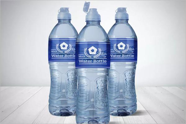 AquaWater Bottle Mockup