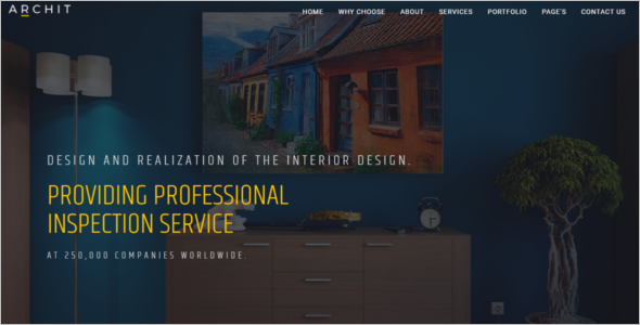 Architectural Design Bootstrap Template