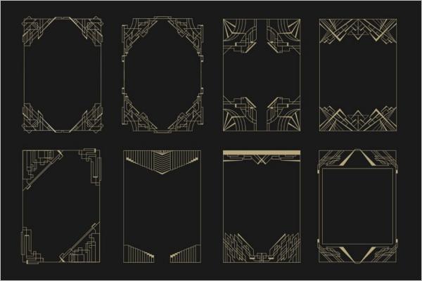 Art Border Design Template