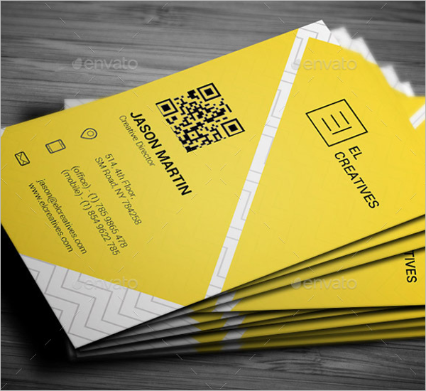 Attractive Yellow Business Card Template