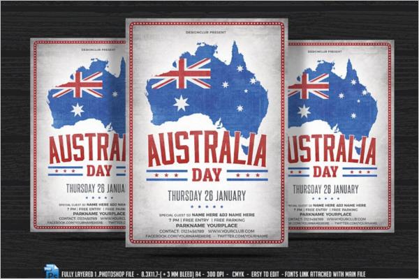 Australia Flag Flyer Design