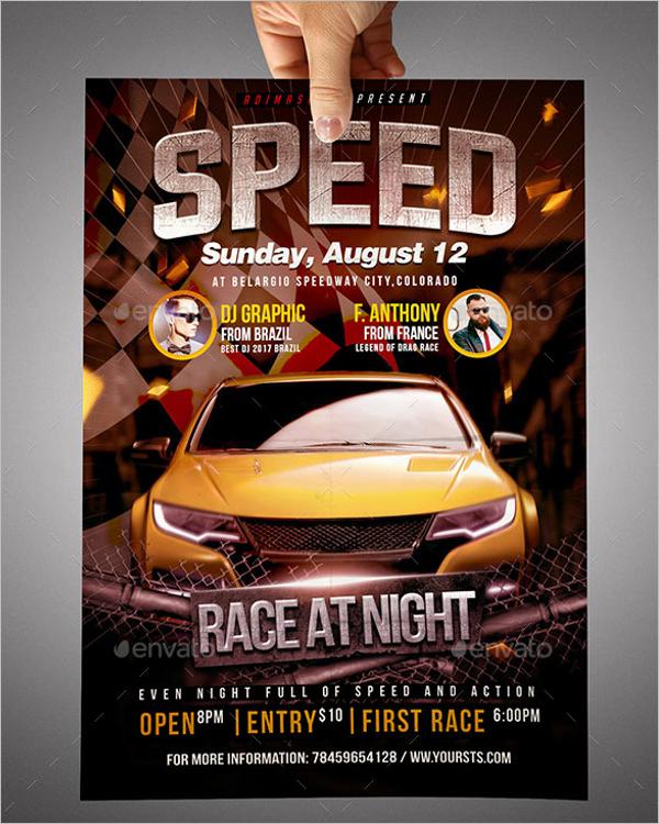 Auto racing Flyer Template