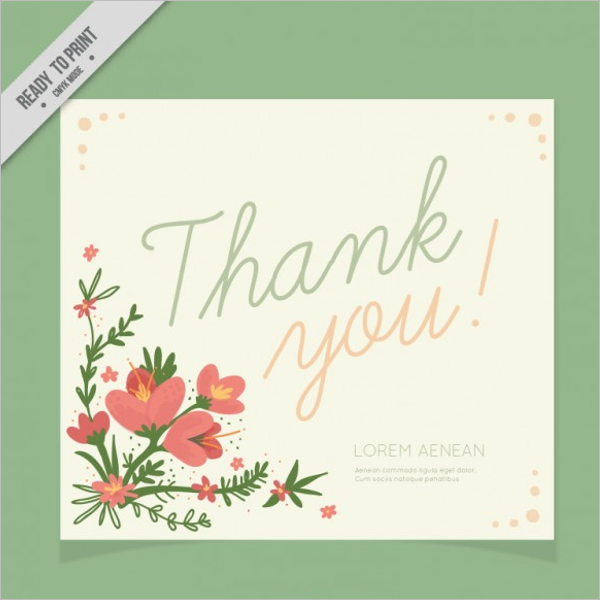Awesome Floral Thank You Card Design