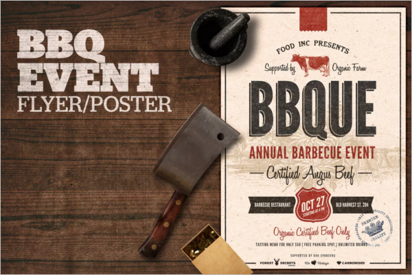 BBQ Event Flyer Design