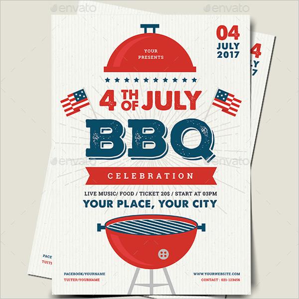 BBQ Flyer Design Template