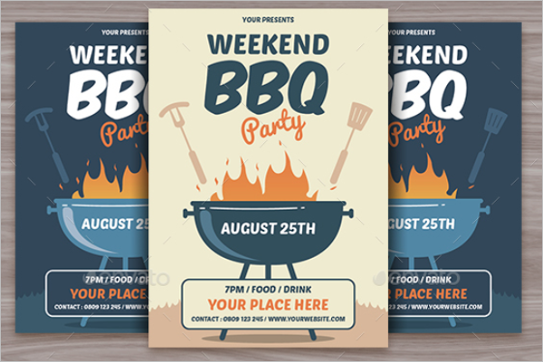 BBQ Flyer Invitation Template