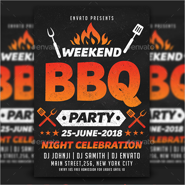 BBQ Flyer Template PSD