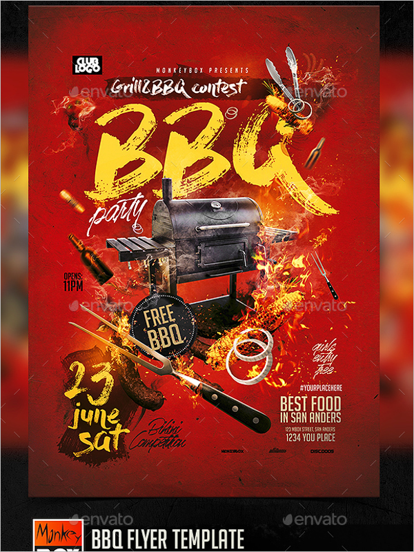 BBQ Flyer Template Photoshop