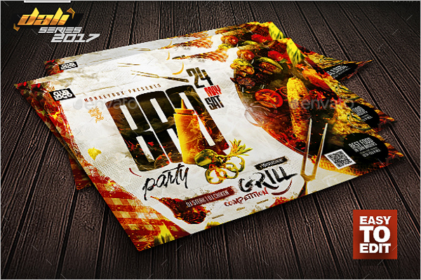 BBQ Flyer Template Publisher