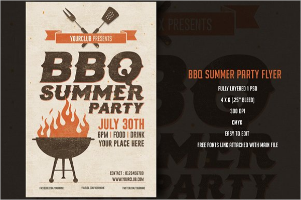 BBQ Flyer Template Word