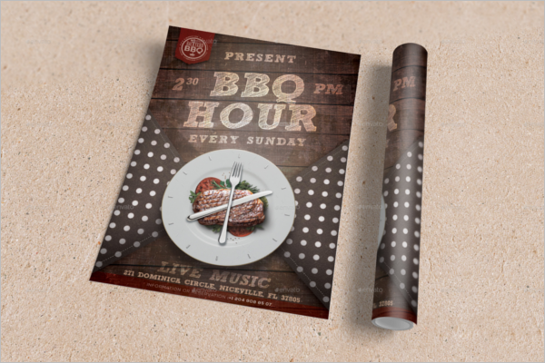 BBQ Hour Flyer Template