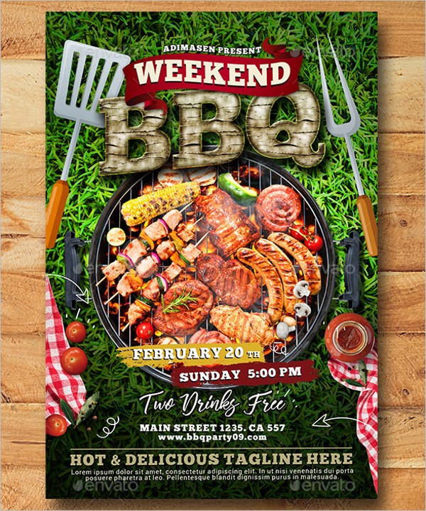 BBQ Weekend Flyer Template