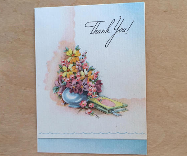 Baby Girl Thank You Card Template