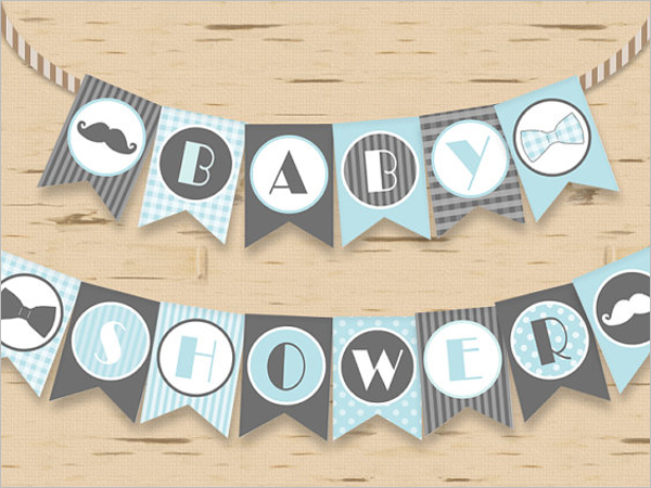 Baby Shower Banner Design Template