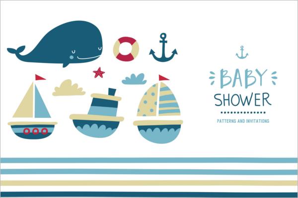 Baby Shower Banner Vector Design