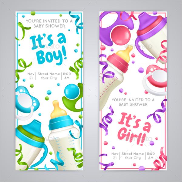 Baby Shower Vertical Banner Template