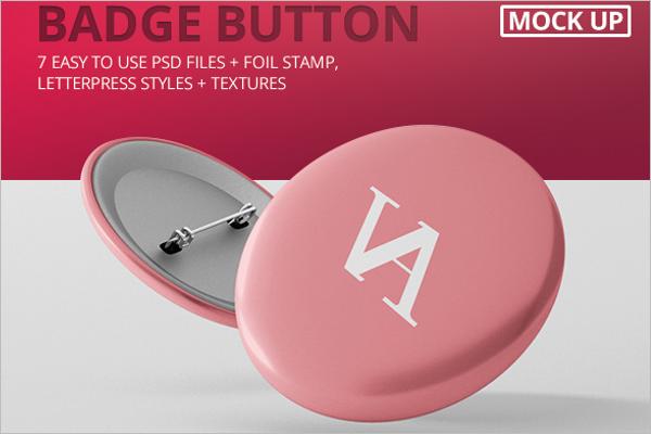 Badge Mockup Free Design