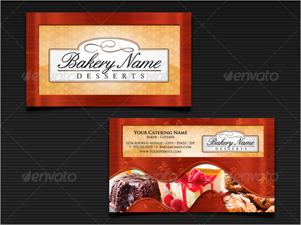 Baker's Catering Business Card Template