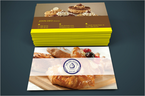 Bakery Business Card Photoshop Design