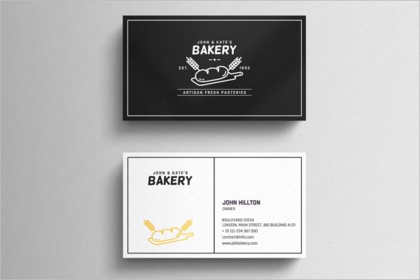 Bakery Business Card Set Design