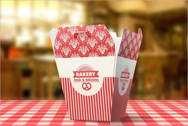Bakery Food Box Mockup Design