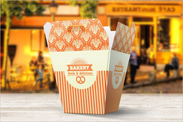 Bakery Food Packaging Mockup