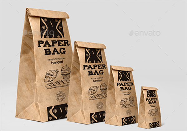 Bakery Paper Bag Mockup Design
