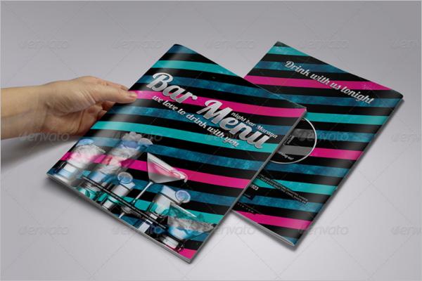 Bar Menu Booklet Template
