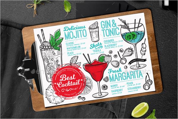 Bar Menu Illustrator