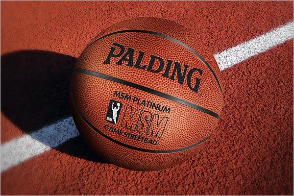 Basketball Ball Mockup Design