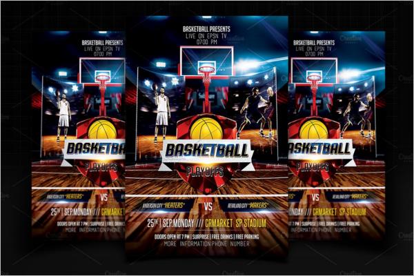 Basketball Flyer Design Template