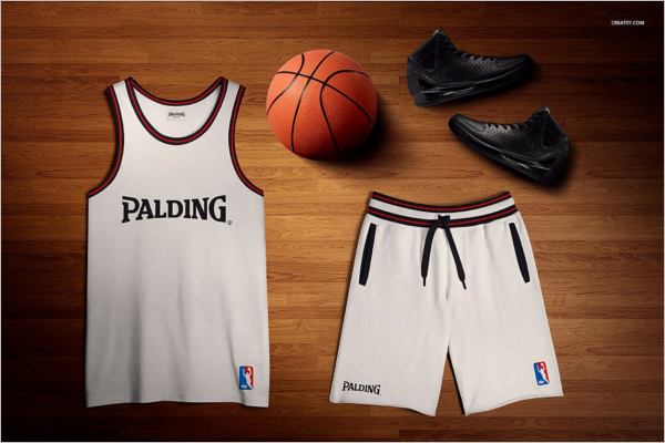 Basketball Uniform Mockup Template