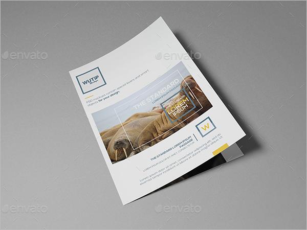 Beautiful A4 Brochure Mockup Design