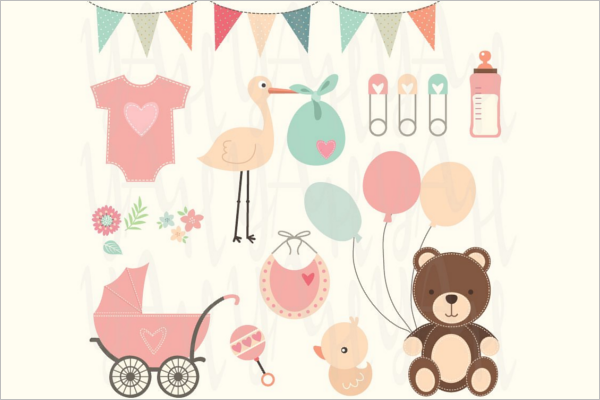 Beautiful Baby Shower Banner Template
