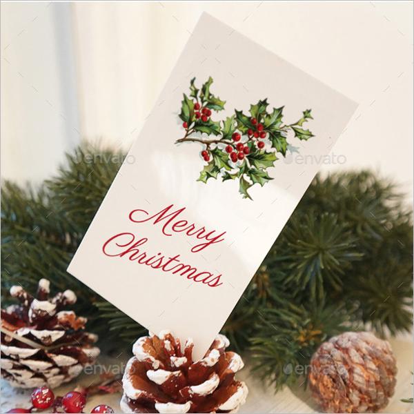 Beautiful Christmas Card Mockup Design