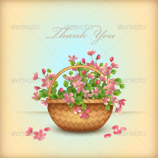 Beautiful Floral Thank You Card Design